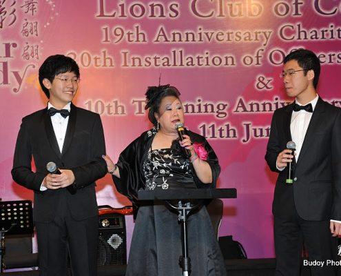 Kelvin Lau Doris Ho Philip Lee, The Hong Kong Virtuoso Chorus @ Lions Club of Central 19 anniversary charity ball